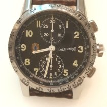 Eberhard & Co. Tazio Nuvolari Steel 39mm Black Arabic numerals