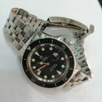 Tudor Submariner Steel 33mm Black No numerals