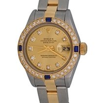 Rolex Lady-Datejust Gold/Steel 25mm Champagne No numerals