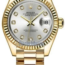 Rolex Yellow gold 28mm Automatic 279178 Silver Diamond President new United States of America, New York, Airmont