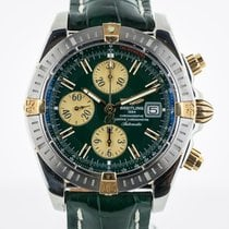 Breitling Chronomat Evolution, B13356, Two Tone 18K Gold and...