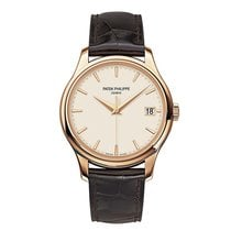 파텍필립 [NEW] Calatrava Mechanical Ivory Dial Leather Men 5227R