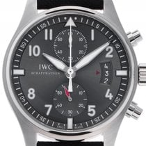 IWC Spitfire Stahl Automatik Chronograph Armband Leder 43mm...