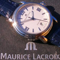 Maurice Lacroix Pontos Date Staal 30mm Zilver Romeins