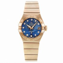 Omega Rose gold Automatic Blue No numerals 27mm new Constellation Ladies
