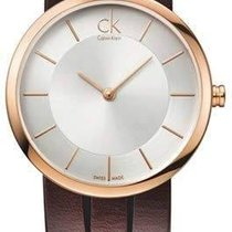 ck Calvin Klein Rose gold Quartz Silver 32mm new