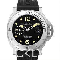 沛納海 Luminor Submersible Automatic Acciaio Black Steel/Rubber - P