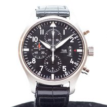 IWC Pilot Chronograph Steel 43mm Black Arabic numerals Singapore, Singapore