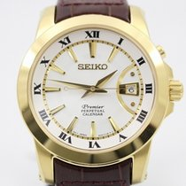 Seiko Premier Kinetic Perpetual tweedehands 42mm Staal