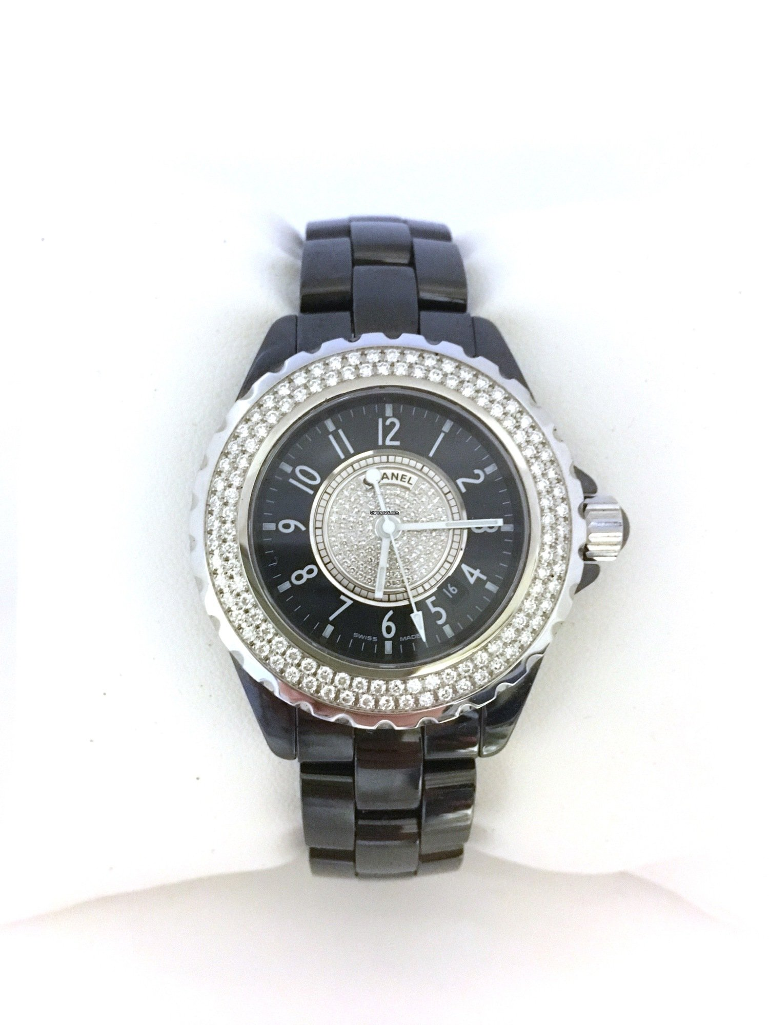 895ecb7d Chanel J12 H1708 Diamond Black Watch for $10,244 for sale from a ...