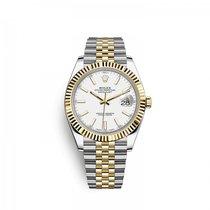 Rolex Datejust Or/Acier 41mm Blanc