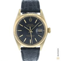 Rolex Geelgoud Automatisch Zwart 36mm tweedehands Datejust