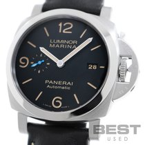 Panerai Luminor Marina 1950 3 Days Automatic pre-owned 44mm Black Leather