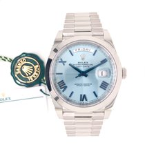 Rolex Day-Date 40 Platinum 40mm Blue Roman numerals United States of America, Texas, Houston