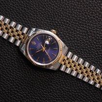 Rolex Datejust Gold/Stahl 36mm Blau