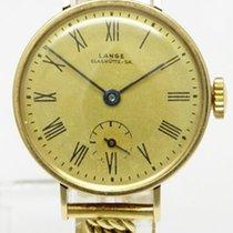 A. Lange & Söhne Damenuhr Gelbgold mit Goldband Handaufzug...