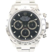 Rolex Daytona Steel Black Dial New Stickers Full Set