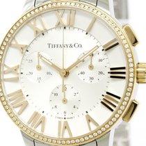 Tiffany Atlas Dome Diamond 18k Pink Gold Steel Watch 33989563...
