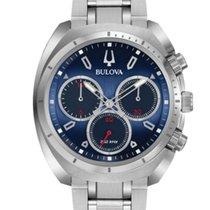 Bulova 96A185 Bulova CURV Cronografo Quarzo Acciaio Blu  43mm new