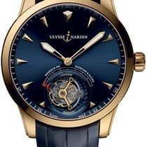 Ulysse Nardin Classic Ulysse Anchor Tourbillon Rose gold Blue United States of America, New York, Brooklyn