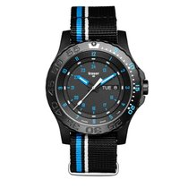 Traser Blue Infinity Watch with Sapphire Crystal and striped NATO