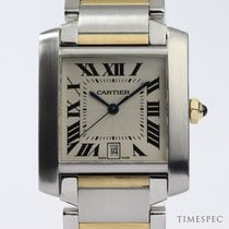 Cartier Tank Française pre-owned 28mm Date Steel