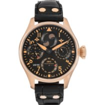 IWC Rose gold Automatic Black Arabic numerals 46mm pre-owned Big Pilot