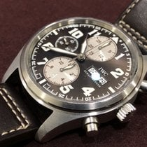 IWC Pilot Chronograph Steel 42mm Brown Arabic numerals