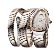 Bulgari Serpenti Gold/Steel 35mm Silver No numerals