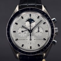 Omega Speedmaster Professional Moonwatch Moonphase Oro blanco 42mm Plata Sin cifras