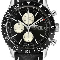 Breitling Chronoliner Steel 46mm Black No numerals United States of America, New Jersey, Princeton