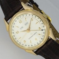 Eterna 1948 Yellow gold 33mm Silver Arabic numerals