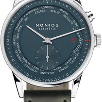 NOMOS Steel 40mm Automatic 807 Nachtblau new United States of America, New York, Airmont