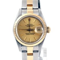 Rolex Ladies 18K/SS Datejust - Champagne Dial w/ Oyster Band...