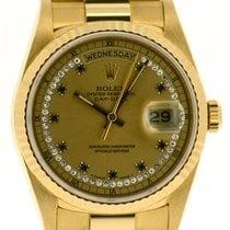 Rolex 18k Day-Date, Diamond/Sapphire String Dial Ref: 18238