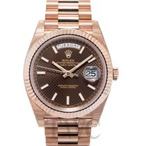 Rolex Day-Date 40 Or rose 40mm Brun