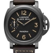 Panerai PAM00594 PAM 594 - Black Seal - On Brown Leather Strap...