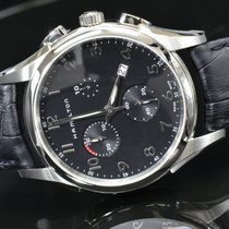 Hamilton JAZZMASTER THINLINE CHRONO QUARZO Black Dial &...