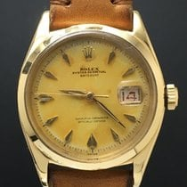 Rolex Datejust 6605 18kt with Rare Smooth Bezel