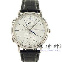 朗格 Saxonia A. Lange & Sohne Saxonia Dual Time 全新 白金 38.5mm 自動發條 臺灣, 台北市
