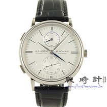 朗格 白金 38.5mm 自動發條 A. Lange & Sohne Saxonia Dual Time 新的 臺灣, 台北市