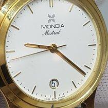 Mondia Stal 34mm Kwarcowy Mondia Mistral Full set Gold Filled Quartz 34mm More Crown używany
