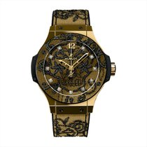 Hublot Yellow gold Automatic 41mm new Big Bang Broderie