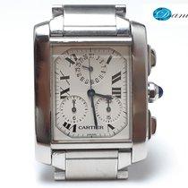 Cartier Tank Française Steel 28mm White Roman numerals