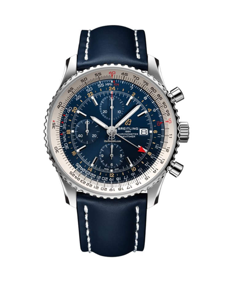 ad56f4513 Breitling Navitimer 1 Chronograph GMT 46 for $5,090 for sale from a Trusted  Seller on Chrono24