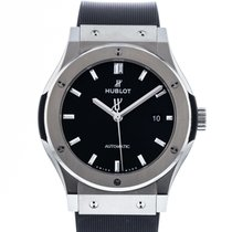Hublot Classic Fusion 45, 42, 38, 33 mm pre-owned 42mm Black Date Rubber