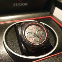 Tudor Fastrider Black Shield gebraucht 42mm Schwarz Chronograph Datum Leder