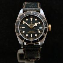 Tudor Black Bay S&G usado 41mm Preto Pele