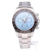 Rolex Platinum Automatic Blue 40mm pre-owned Daytona