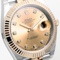Rolex Datejust 41mm Steel and Yellow Gold Factory Diamonds UNWORN